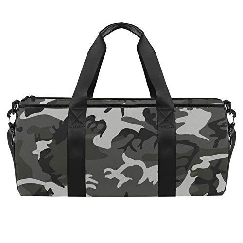TIZORAX Sports Gym Bag Waterproof Roll Duffel Bag Camouflage Disguise Army...