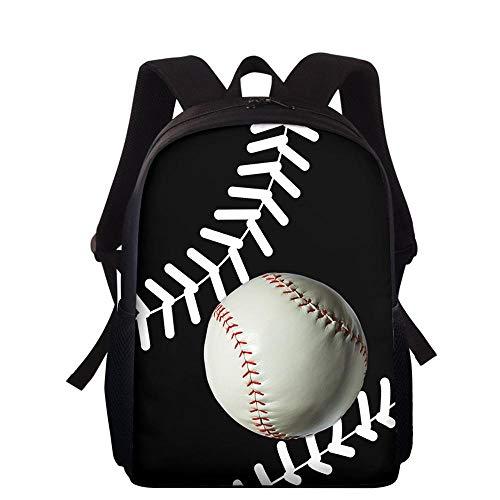 HUANIU Children's Backpack 3d Rugby Backpack Cartoon Ultra-light Student School Bag Shoulder Bag Travel Backpack Computer Bag Large Capacity D-15in * 10.7in * 4.2in