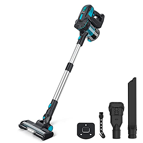 INSE Cordless Vacuum Cleaner, Stick Vacuum with Powerful Suction, 6-in-1 Lightweight Handheld Vacuum with 2200mAh Rechargeable Battery, Up to 40min Runtime for Pet Hair Carpet Hardwood Floor Home Car
