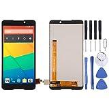 YANTAIAN Piezas de reparación de teléfonos celulares Pantalla LCD y digitalizador Asamblea Completa de BQ BQ-5707 Siguiente (Color : Black)