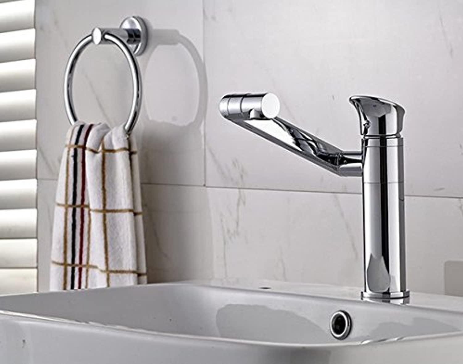 Mangeoo Faucet All Copper Faucet Basin Faucet Hot And Cold Basin Faucet 360 Degree Swivel Faucet