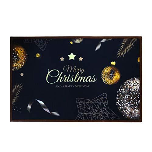 n\a Teppich Anti Rutsch Unterlage,40 * 60 cm,Weihnachtsteppich,Weihnachten Area Rug,Türmatte,Kurzflor Fußmatte,Teppich Wohnzimmer,rutschfeste Badematte,Home Decor,weihnachtsdekoration