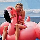 Desconocido iPantuflas | Flotador de Flamenco Hinchable Piscina 134x142x90 cm | Colchoneta Hinchable Flamenco Rosa Gigante de Verano para Adulto y Niño