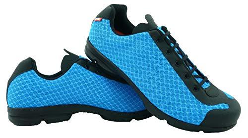 LUCK Zapatillas de Ciclismo Jupiter, Ideal para la práctica de Distintas disciplinas Gracias a su Suela de EVA, construida en una Sola Pieza de Micro Fibras súper Transpirables. (43 EU, Azul)