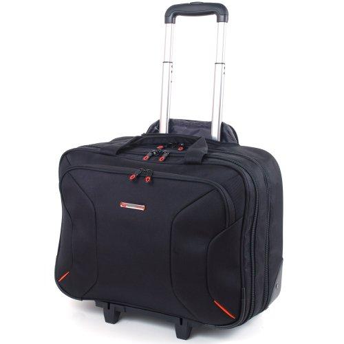 """alpine swiss Men's Rolling Briefcase on Wheels Roller 17"""" Laptop Case"""