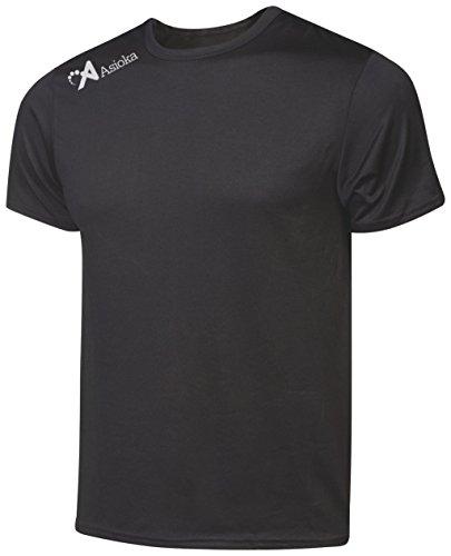 Asioka 130/16 Camiseta Deportiva, Unisex Adulto, Negro, L