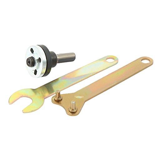sourcingmap 5/8'(16mm) Drill Angle Grinder Mandrel Adapter Disk Holder 2 Wrench Set 3 in 1