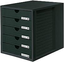 HAN 1450 utdragslådor SYSTEMBOX, DIN A4 och större, 5 stängda lådor