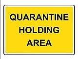 Nongmei Cartello per Area di Attesa in Quarantena 8'x12' Segnale di Avvertimento per Uso Interno/Esterno Cartello di Quarantena Cartello in Metallo Targa in Metallo GLQ-01