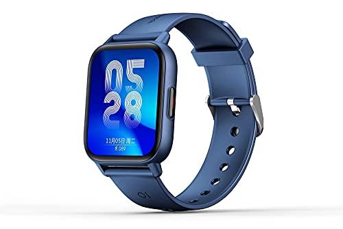 XYJ Watch Fitness Monitor Herzfrequenz Wasserdichte Männer Frauen Android Tracker Blut Smartwatch iPhone Touchscreen Pedometer Stoppuhr Telefon Sauerstoff IP67 Ios Schlaf Kalorienzähler Kinder Kompati