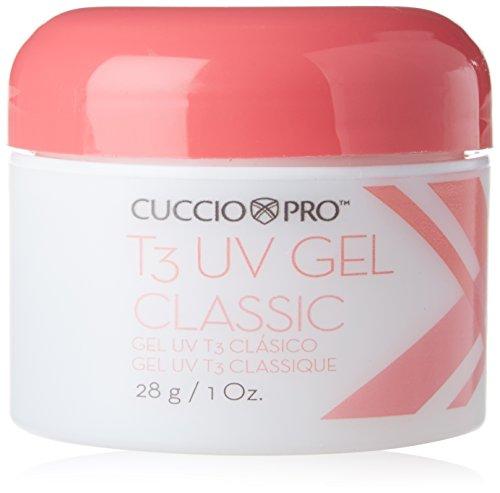 Cuccio Pro T3 UV gel trasparente per alto lustro unghie naturali e ricostruite 28g