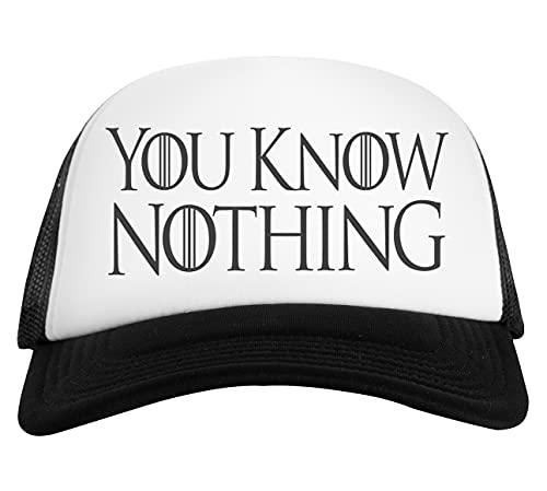 You Know Nothing Gorra De Béisbol Unisex Blanca Negra White Black Baseball Cap Unisex