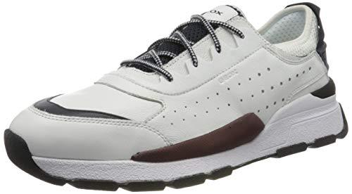 Geox Herren U Regale A Sneaker, Weiß (White C1000), 42 EU