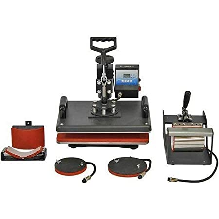 Festiko Heat Press 5 in 1 Digital Multi Functional Sublimation, Vinyl Printing Machine for T-Shirts (Any Flat Product), Mug, Plate Heat Press Machine 12x15 Inch