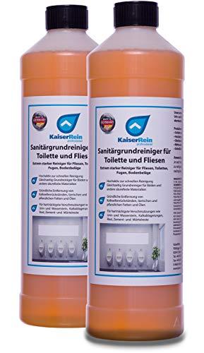 KaiserRein Extra starker Sanitär-Grundreiniger für Toilette, WC, Boden-Fliesen 2x1L Konzentrat Kalkreiniger Spezialreiniger gegen Urinstein