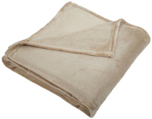 Pinzon Velvet Plush Blanket - Full or Queen, Sand