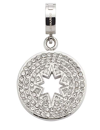 Jewels by Leonardo DARLIN'S Damen-Anhänger Elvira, Edelstahl mit klaren Schliff-Kristallen, Clip & Mix System, Größe (B/H/T): 18/31/8 mm, 016863
