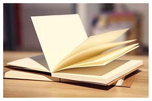 Hermosa Cuaderno Cuaderno Planificador Marrón / Beige Papel Página en blanco Bosquejo Nota Book Libro de recuerdos Scrapbook Travel Diary Bloc de notas Oficina de la escuela Notebook (Color: Marrón, T