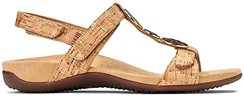 Vionic with Orthaheel farra Women's Sandal 6.5 B(M) US Gold-Cork