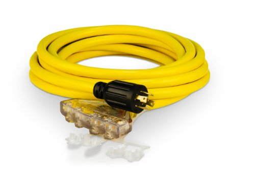 of cable extensions dec 2021 theres one clear winner Champion 25-Foot 30-Amp 125/250-Volt Fan-Style Generator Extension Cord (L14-30P to four 5-20R)