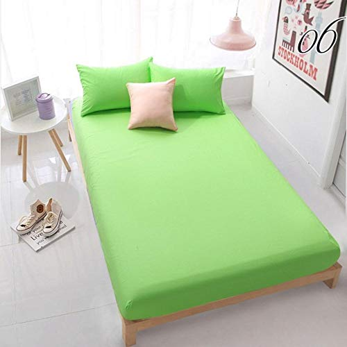 PENVEAT Reine Baumwolle solide Spannbetttuch Bettlaken mit Gummiband Bettwäsche Bettwäsche Matratzenbezug 160 x 200 weiß, 06, König 76 x 80 tief 16 Zoll