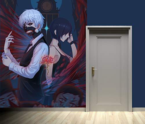"""3D Tokyo Ghoul 232 Japan Anime Tapeten Drucken Spiel Karikatur Cosplay Wandgemälde Selbstklebend Tapete MXY WALLPAPER DE Wendy (gewebt Papier (Notwendigkeit Leim), 【 82""""x58""""】208x146cm(HxB))"""