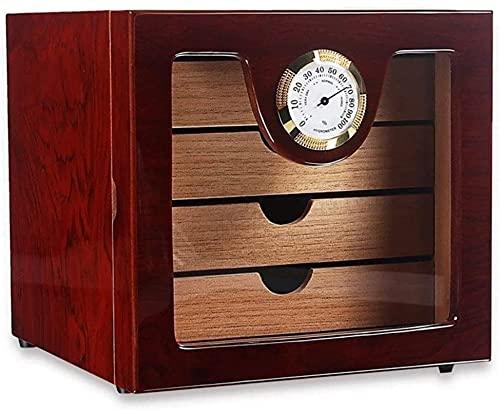GAOYINMEI Humidor Cigar Humidor Cedar Cigar Humidor Box Cube Layer Inderpendent Partizione con Umidificatore e Igrometro Cigar Box