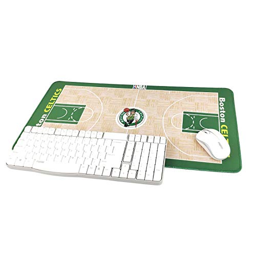 "TRIPRO Basketball Arena Design Large Gaming Mouse Pad XXL Extended Mat Desk Pad Mousepad,Size 23.6""x11.8"",Water-Resistant,Non-Slip Base,for Celtics Fans Gifts"