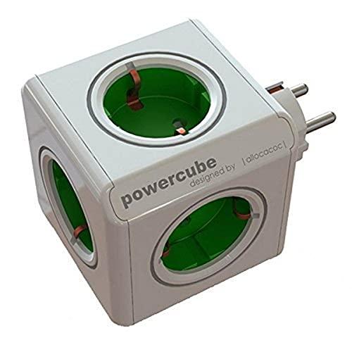 Allocacoc 1100 Power Cube Original, 16 W, Verde, Estandar