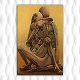 Danjiao Cuadro De Lienzo Zdzislaw Beksinski, Póster De Pared, Imágenes Artísticas Para La Impresión De La Sala De Estar, Sin Marco, Decoración Del Hogar Sala De Estar Decor 60x90cm