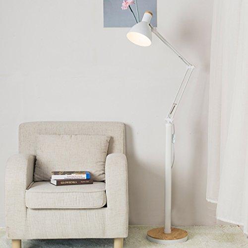 MILUCE Lampe de table à LED, angle d'éclairage réglable, lampe de table verticale en bois massif simple, salle de séjour en noir et blanc Creative Piano Piano (Couleur : Blanc)
