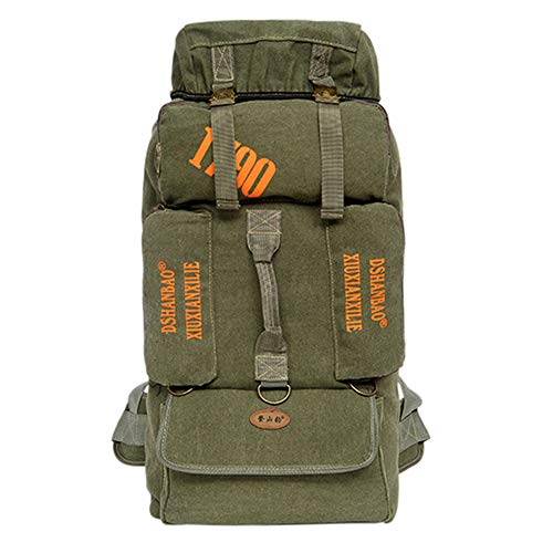 Hiking Backpack Yuan OU 90l Outdoor Large Capacity Mountaineering Bag Men Package Hiking Climbing Camping Backpacks 35x25x76cm Style 1 Green