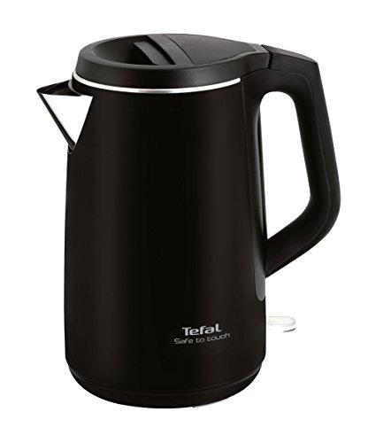 Tefal KO 3718 - Hervidor eléctrico, 2400 W, 1.5 L, negro/plateado