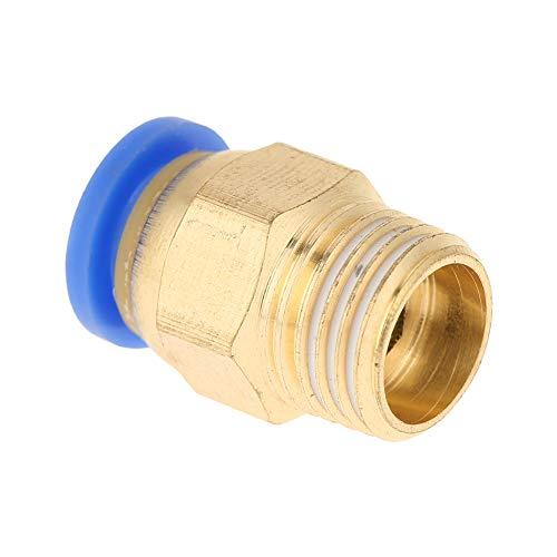 Racores rápidos neumáticos, conector rápido de aire, adaptador de racores de aire con rosca de 8 mm de diámetro para la industria