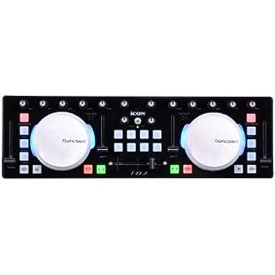 Icon i-DJ mini USB MIDI-/DJ- controller with touch sensitive scratch wheels, black:Hitspoker