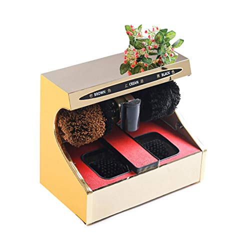 QFFL Máquina limpiabotas automático Máquina Pulidora Eléctrica de Zapatos, Máquina Automática de Pulido Y Abrillantado de Zapatos con Sensores Máquina Eléctrica de Lustrado de Zapatos con Brocha para