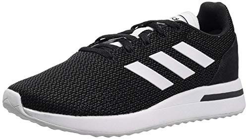 adidas Men's Run70S Running Shoe, Black/White/Carbon, 11.5 M US