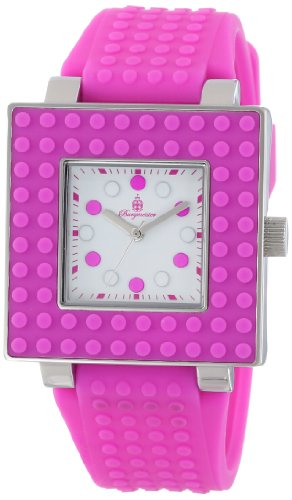 Burgmeister Armbanduhr für Damen mit Analog Anzeige, Quarz-Uhr und Silikonarmband - wasserdichte Damenuhr mit zeitlosem, schickem Design - Klassische, Elegante Uhr für Frauen - BM610-188 Color Games