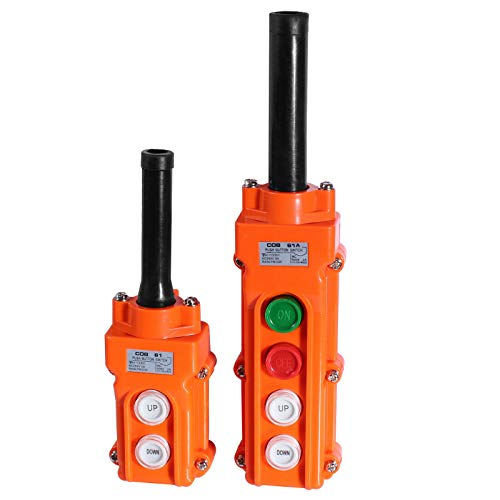 Hängetaster Kran Steuerung in 2 Ausführung auswählbar 2-Taster & 4-Taster Ausführungn (2-Taster)