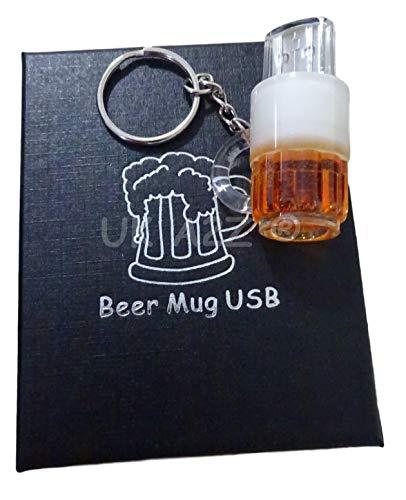UK A2Z® - Chiavetta USB da 32 GB a forma di tazza di birra, in confezione regalo