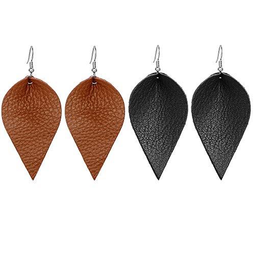Best leather leaf earrings for women bulk for 2021