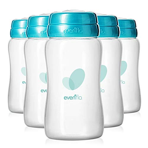 Evenflo Advanced Breast Milk Collection Bottles, 5oz 6 Pack