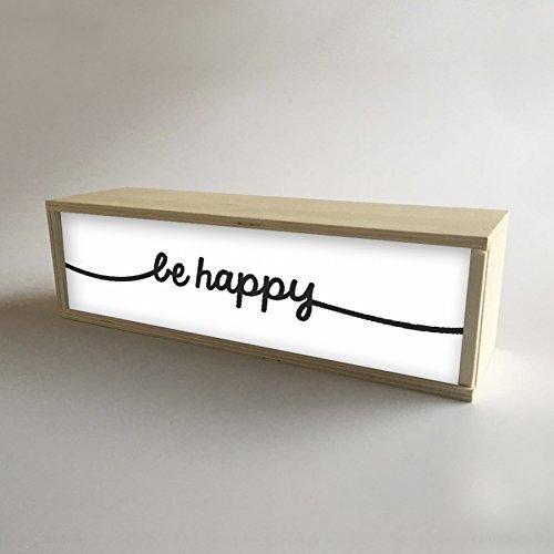 Caja de Luz Decorativa en madera y Blanco con mensaje