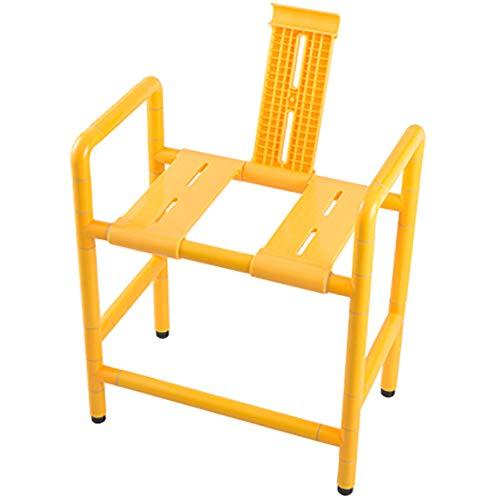 XER Toilette Stuhl Bad Schemel WC-Stützhilfe rostfrei Stahl Nylon Baden Stuhl Leben Helfen Werkzeug zum das Alten Behindert,Weiß
