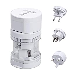 Bulfyss Universal Travel Adapter All in One -Supports over 150 Countries Including US, AUS, NZ, Europe, UK