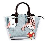Juluskin Precioso gato seta Bolso de trabajo con remaches de compras, bolso de mujer, bolso de varios estilos