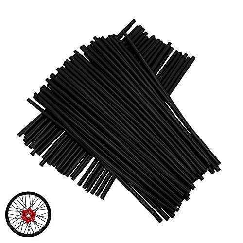 72pcs   lot Spoke Skins Covers Per cerchi da 19 -21 , Universal Motocross Dirt Bike MX Enduro Off Road Wheel Rim Spoke avvolge protezioni Skins Covers - Nero