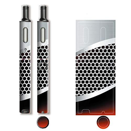 電子たばこ タバコ 煙草 喫煙具 専用スキンシール 対応機種 プルーム テック プラス Ploom TECH+ Ploom Tech Plus Metal (メタル) イメージデザイン 01 Metal (メタル) 01-pt08-0041