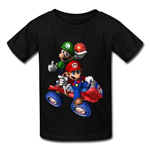 Christine Cheryl Kid's Geek Mario Luigi Mario Kart Double Dash T-Shirts