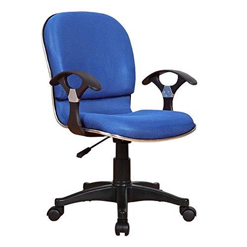 Stuhl Home Office Schreibtischstuhl Einfachheit im Haushalt Schwammfüllung Weich und bequem Atmungsaktiv Lagergewicht 200 kg 2 Farben (Farbe: Blau)